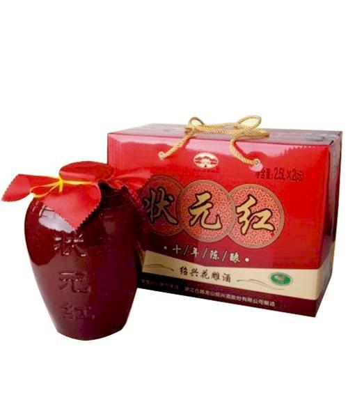 古越龙山瓷坛状元红十年陈酿(2500ML)