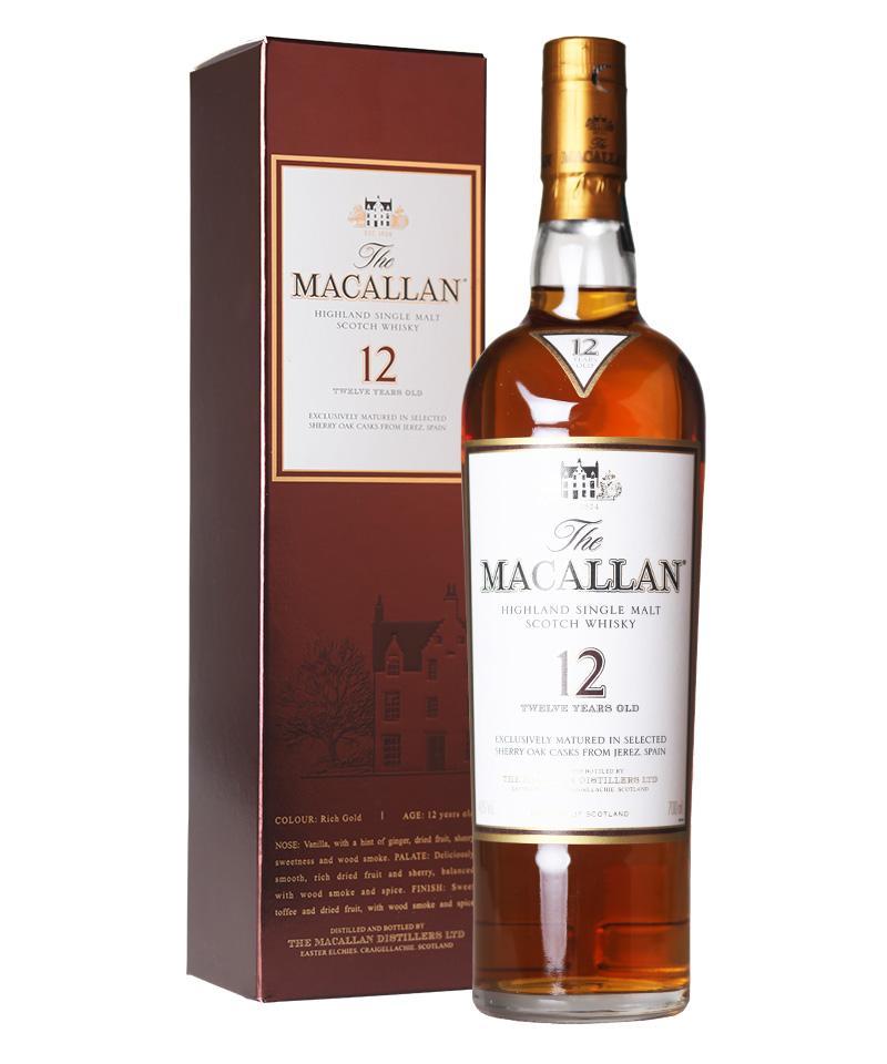 麦卡伦12年单一麦牙威士忌