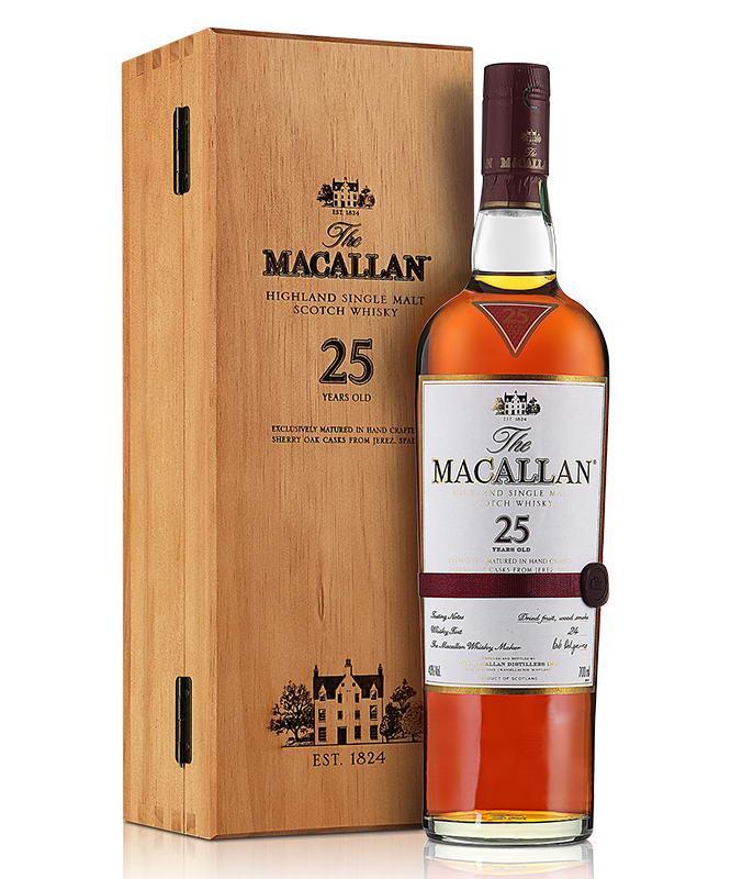 麦卡伦25年单一麦牙威士忌