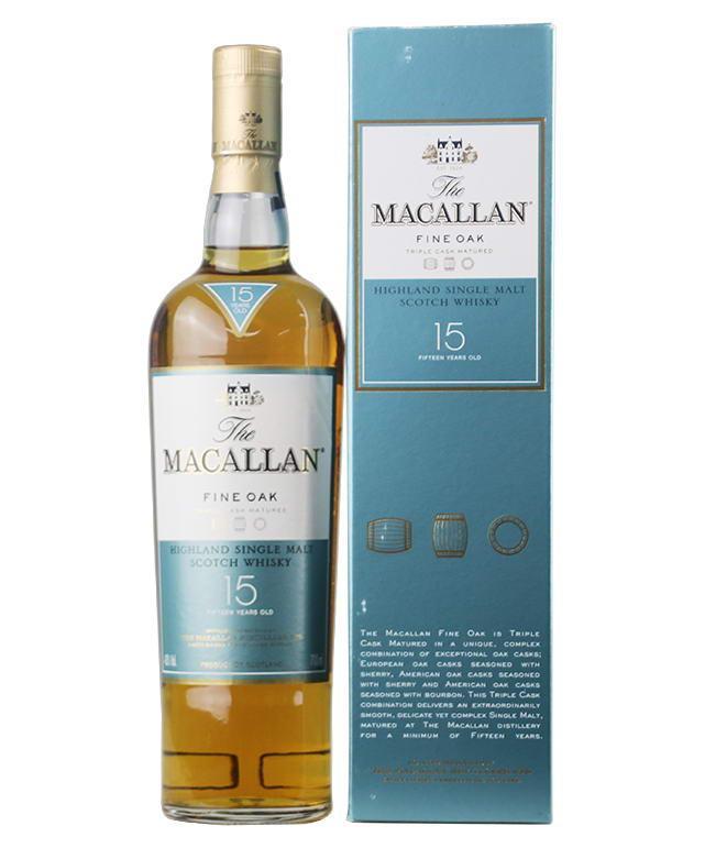 麦卡伦15年黄金三桶单一麦芽威士忌(700ML)