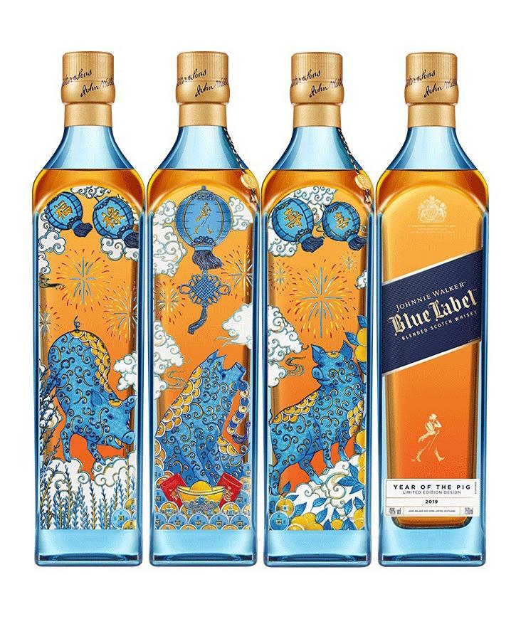 尊尼获加(蓝牌)猪年限量版威士忌(750ML)