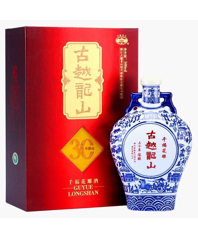 古越龙山三十年陈酿千福花雕(500ML)