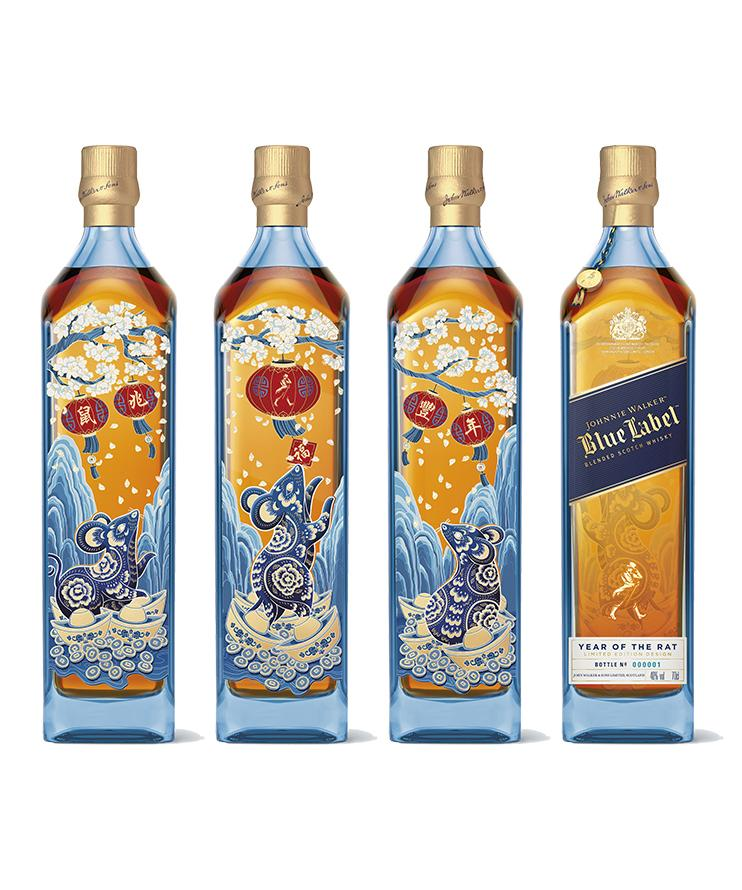 尊尼获加(蓝牌)鼠年限量版威士忌4支装(750ML*4)
